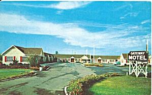Crown Point IN Gateway Motel Podtcard p32751 (Image1)