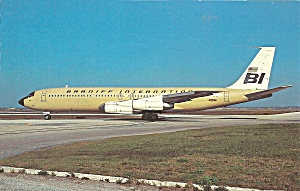 Braniff International 707-327C in Beige p32766 (Image1)