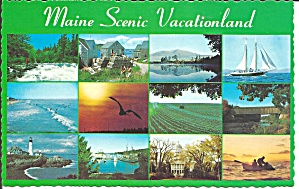 Maine Scenic Vacation Land Twelve Views P32818