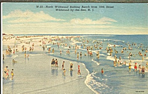 Wildwood By The Sea Nj Bathing Beach Scene P32861