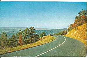 Skyline Drive Mountains And Valley View Postcard P32867