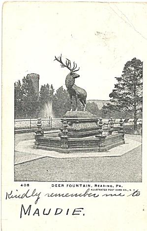 Reading PA Deer Fountain p32875 (Image1)