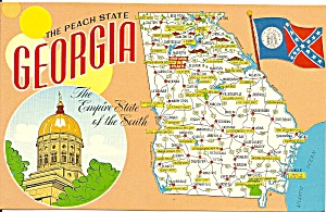 Map of The State of Georgia Postcard (Image1)