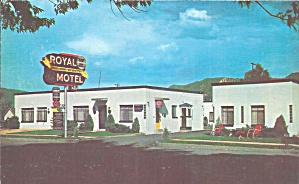 Durango Co Royal Motel Postcard P32969