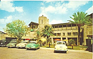 Phoenix AZ Entrance Arizona Biltmore Hotel p32976 Cars 1940s (Image1)