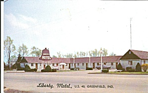 Greenfield IN The Liberty Motel Liberty Bell Sign P32977 (Image1)