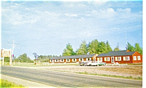 Oak Pond Motel Canaan Maine Postcard P3299