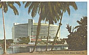 Miami Beach FL Fontainebleau Hotel Postcard p33100 (Image1)