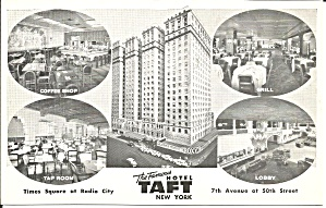 New York City Hotel Taft Postcard p33105 (Image1)