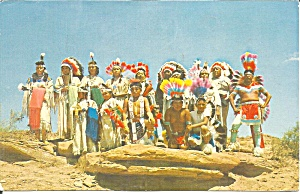 Native Americans In Ceremonial Dress 1972 P33151