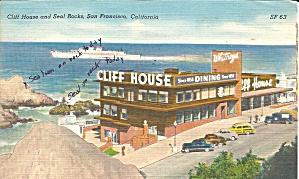 San Francisco CA Cliff House Seal Rock Woodie Wagon p33179 (Image1)