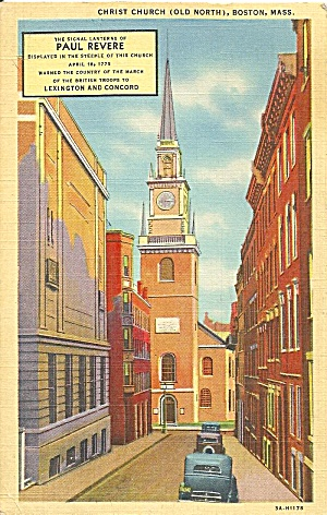 Boston Ma Old North Church Christ Church P33308