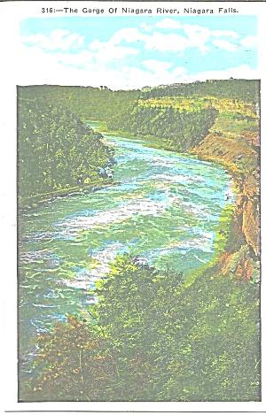 Gorge of the Niagara  River Niagara Falls Postcard p33313 (Image1)