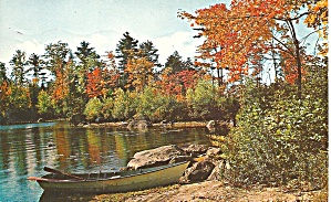 Poconos, PA  Autumn Lake Scene 1958 p33366 (Image1)