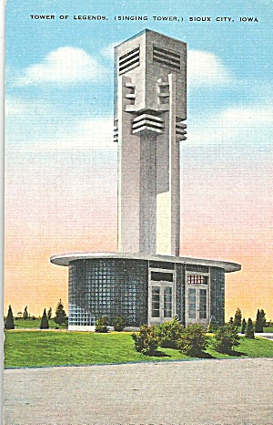 Sioux City Ia Singing Tower Postcard P33389