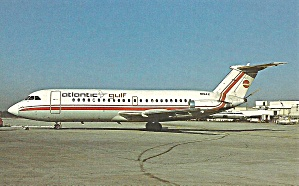 Atlantic Gulf BAC-111-203AE Jetliner Postcard p33398 (Image1)