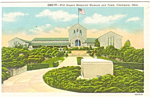 Will Rogers Memorial Claremore OK Postcard (Image1)