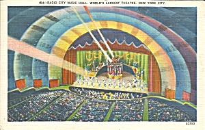 New York City Radio City Music Hall Interior p33445 (Image1)