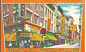 Chinatown New York Postcard p33450 (Image1)