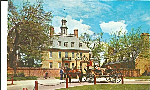 Williamsburg Va Governor S Palace Postcard P33451