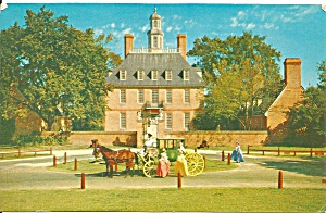 Williamsburg Va Governor S Palace Postcard P33452