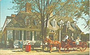 Williamsburg VA Raleigh Tavern Postcard  p33453 (Image1)