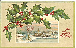 Christmas Postcard Germany Embossed p33456 (Image1)