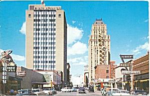 El Paso TX Texas Street Postcard p33482 (Image1)