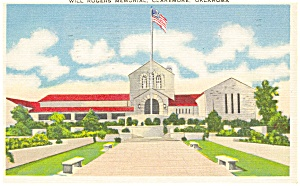 Will Rogers Memorial Oklahoma Postcard (Image1)