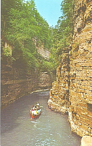 Ausable Chasm Ny Boat Ride Postcard P33495