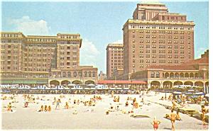 Haddon Hall Chalfonte Hotels NJ Postcard p3350 (Image1)