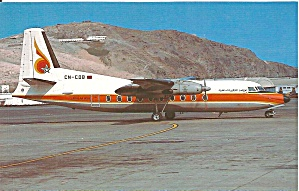 Royal Air Inter F-27-600 Cn-cdb Postcard P33515