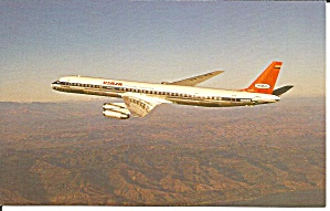 VIASA DC-8-61CF in flight postcard p33519 (Image1)