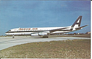 Arrow Air  DC-8-62  N8968U postcard p33522 (Image1)