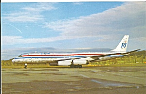 Rich International Airway DC-8-62  N1805 postcard p33524 (Image1)