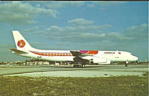 Hawaiian Air  DC-8-62  N802BN postcard p33525 (Image1)