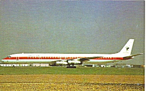 Eagle Air  DC-8-63  TF-ISB postcard p33527 (Image1)