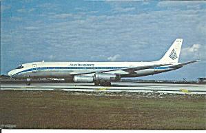 Northeastern DC-8-62CF OY KTE postcard p33537 (Image1)