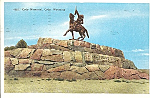 Cody WY Cody Memorial postcard p33551 (Image1)