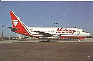 Midway 737-2T4 N54AF postcard p33571 (Image1)