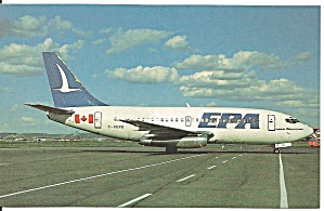Epa Eastern Provincial Airways 737-2e1 Postcard P33583