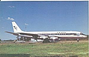 TRAFE Argentina DC-8-33 LV-LTP postcard p33585 (Image1)