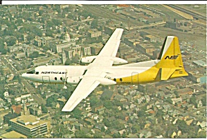 Northeast Airlines Fh-227 Postcard P33586