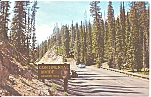 Continental Divide Yellowstone National WY Park postcard p33591 (Image1)
