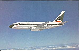 Delta Airlines 737-232 N301DL postcard p33593 (Image1)