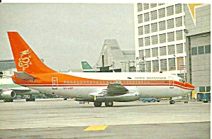 Dragon Air 737-2l9 Vr-hkp Postcard P33594