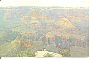 Grand Canyon National Park AZ  Powell Point postcard p35608 (Image1)