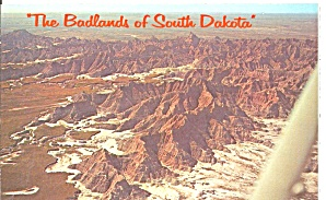 Rugged Terrain of the Badlands SD postcard p33611  (Image1)