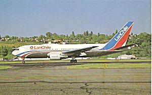 LAN CHILE 767-216ER CC-CJU postcard p33623 (Image1)