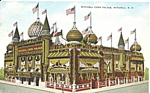 Mitchell Sd Corn Palace Postcard P33642